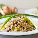 Barley Risotto with Leeks and Mushrooms