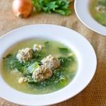 Escarole Soup With Tiny Meatballs