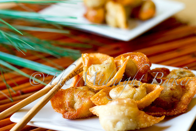 Fried Wontons - The Midnight Baker