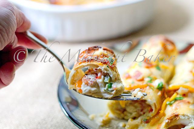 Creamy Chicken Rollups