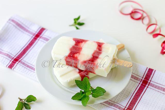 Strawberries & Cream Popsicles