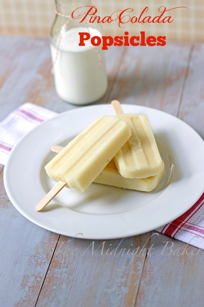 Pina Colada Popsicles #frozendesserts #popsicles #dairyfree #glutenfree