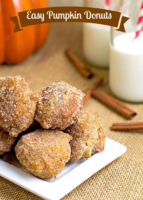 Easy Pumpkin Donuts | bakeatmidnite.com | #donuts #pumpkindonuts