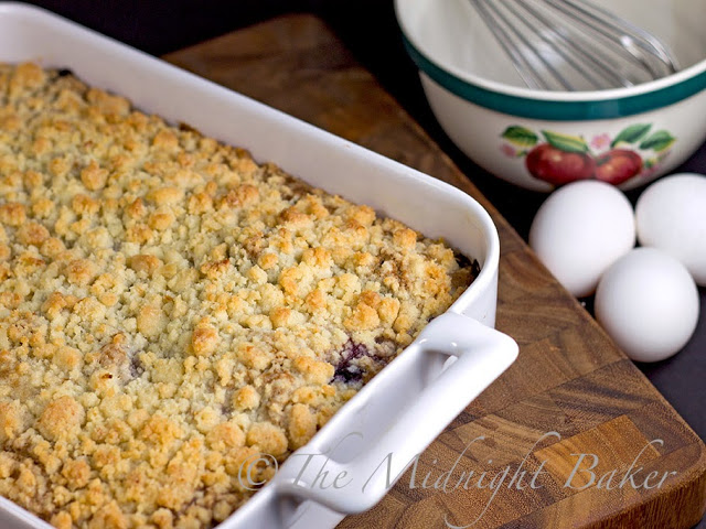 Blueberry Lemon Crumb Cake #CoffeeCake #blueberries #breakfast #cake