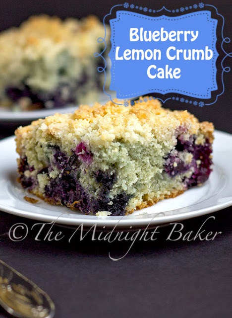 Blueberry Lemon Crumb Cake #blueberry #CoffeeCake #cakes #breakfast