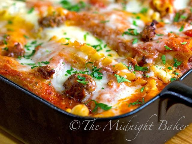 Holiday Lasagna #ChristmasEveMeals #lasagna #pasta #casseroles #BuffetFavorites