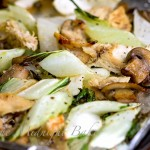 Roasted Bok Choi with Mushrooms & Chicken