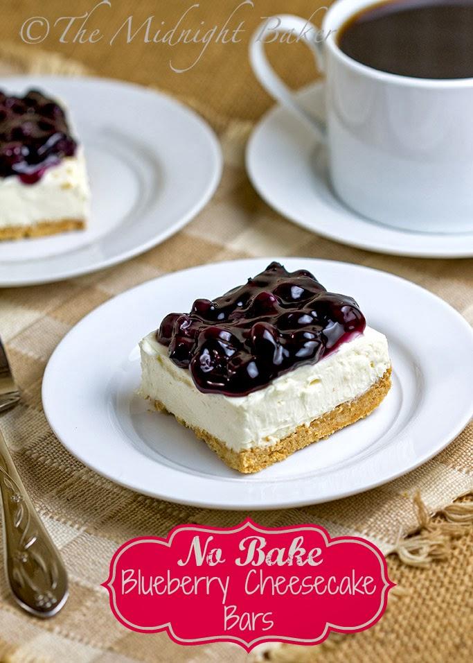 No-Bake Blueberry Cheesecake Bars #NoBakeCheesecake #desserts #NoBakeDesserts
