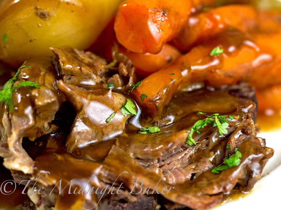 Slow Cooker Classic Pot Roast The Midnight Baker
