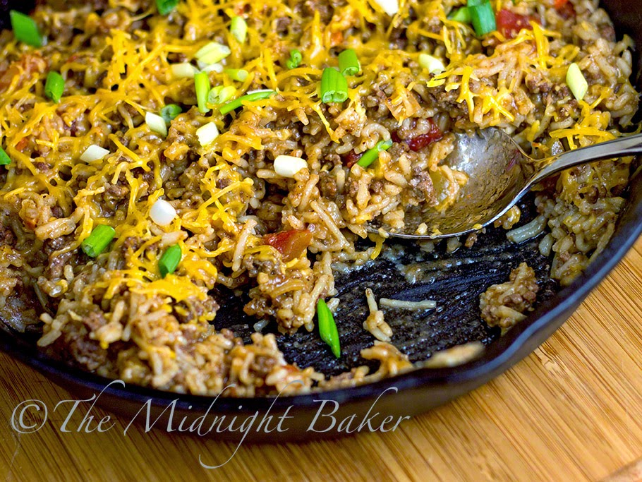 Fajita Rice Skillet Dinner #30MinuteMeals, #FajitaSeasoning #GroundBeef #Rice