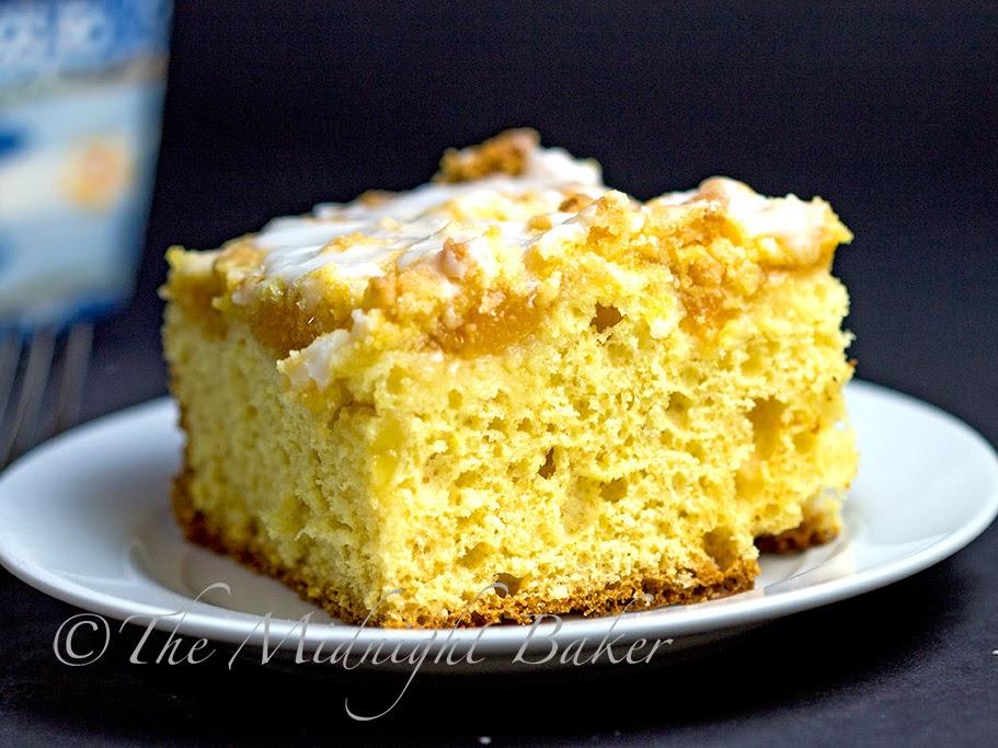 Peach Streusel Coffee Cake #CoffeeCake #EntenmannsStripDanish #StreuselCoffeeCakeRecipe
