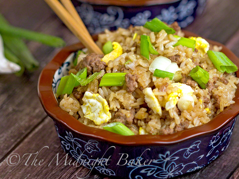 Take-Out Beef Fried Rice - The Midnight Baker