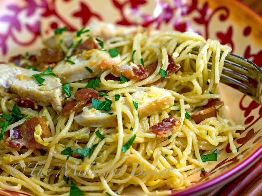 Chicken Carbonara #PastaDinners #PastaCarbonara #Chicken