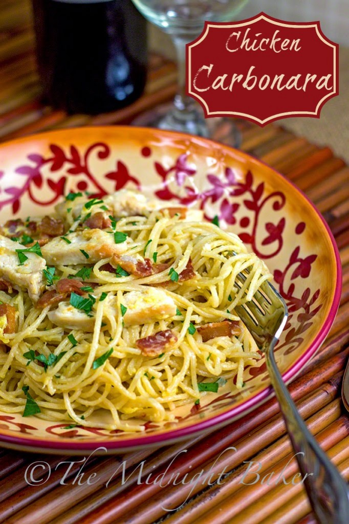 Chicken carbonara the midnight baker - Olive garden chicken carbonara recipe ...