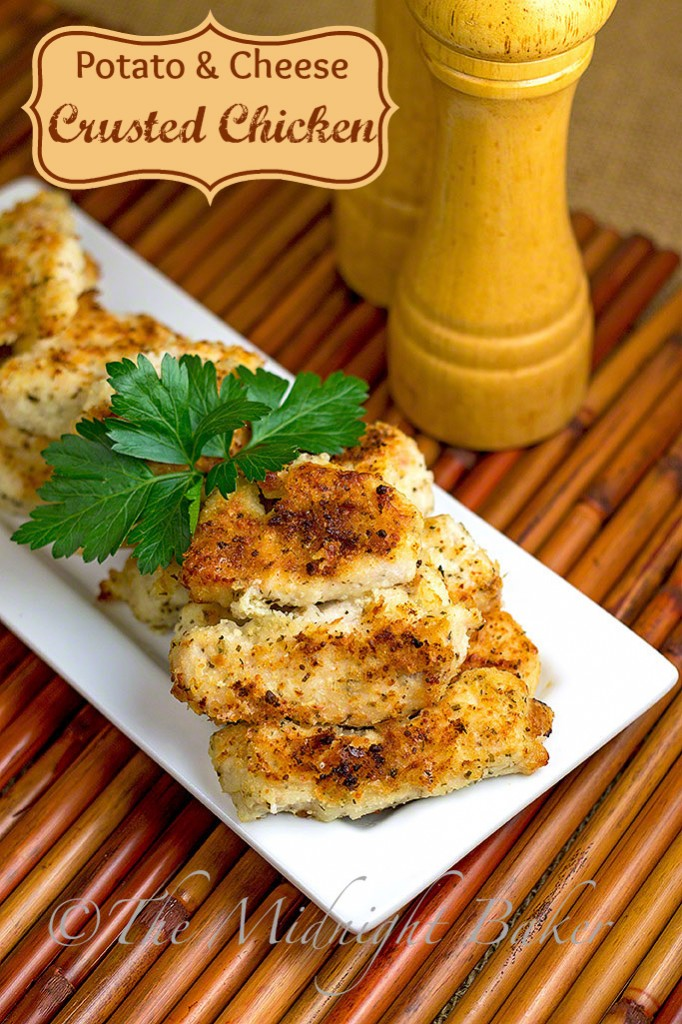 Potato Cheese Crusted Chicken #ChickenBreastRecipe #PotatoCrustedChicken #EasyChickenDinners