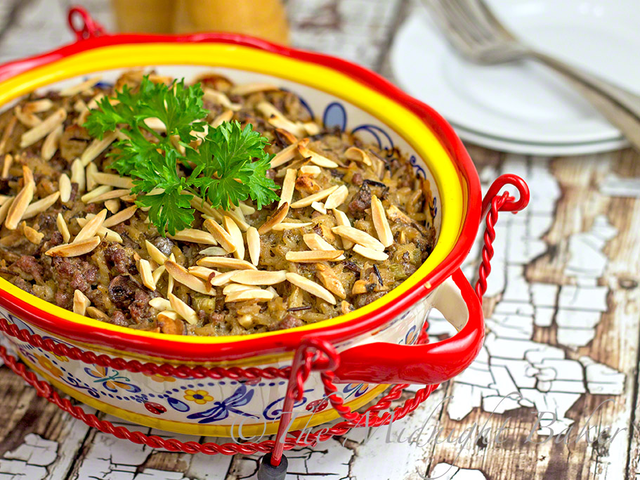 Creamy Beef & Wild Rice Casserole #GroundBeefRecipes #GroundBeefCasseroles #TemptationsByTara