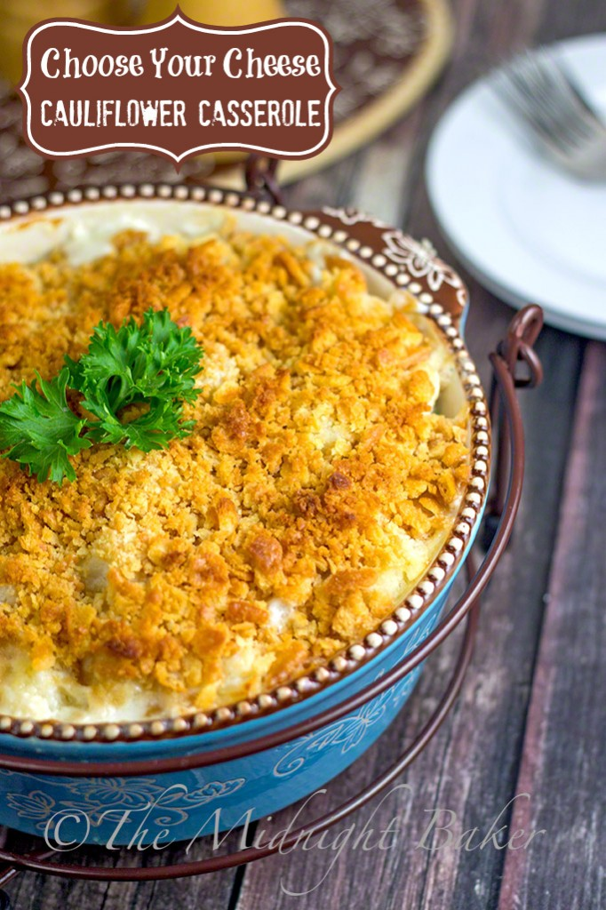 Choose-Your-Cheese Cauliflower Casserole #SideDishes #CauliflowerCasserole #AuGratin #TemptationsByTara
