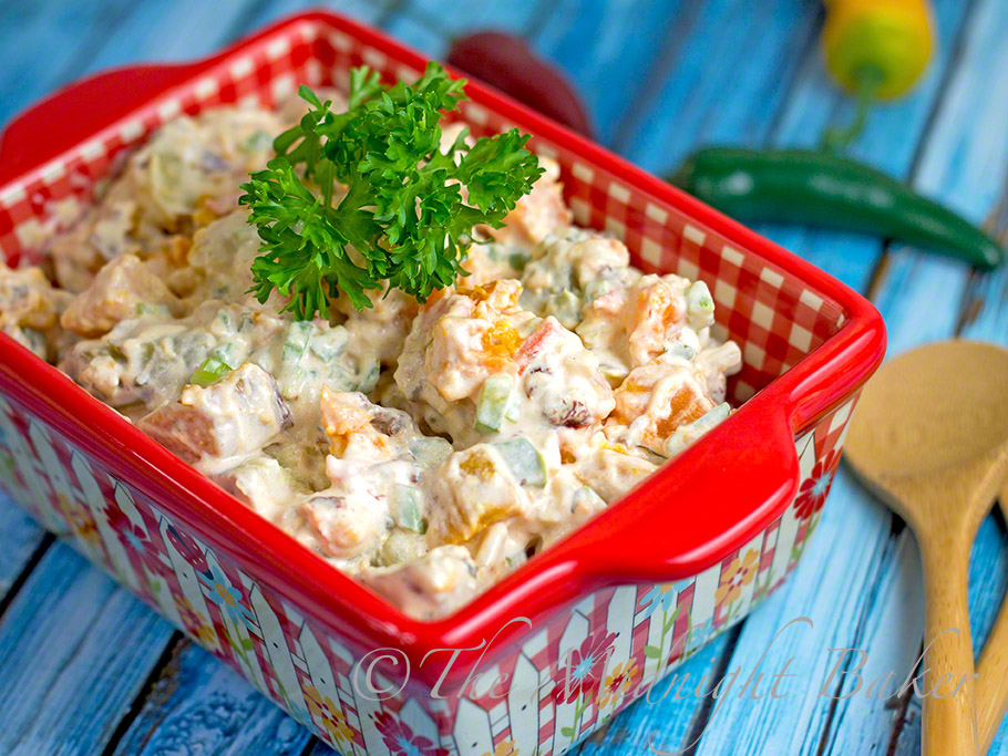 Two-Potato Salad #PotatoSalad #SpicyPotatoSalad #SweetPotatoSalad