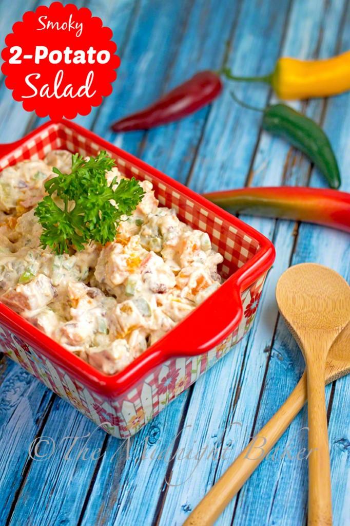 Two-Potato Salad #PotatoSalad #SpicyPotatoSalad #SweetPotatoSalad #CincoDeMayo