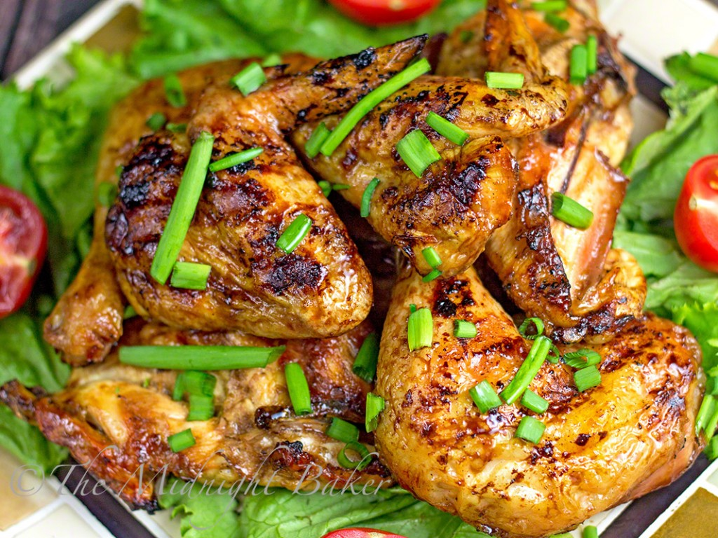 Aloha Pineapple Chicken | bakeatmidnite.com | #chicken #bbq #pineapplechicken