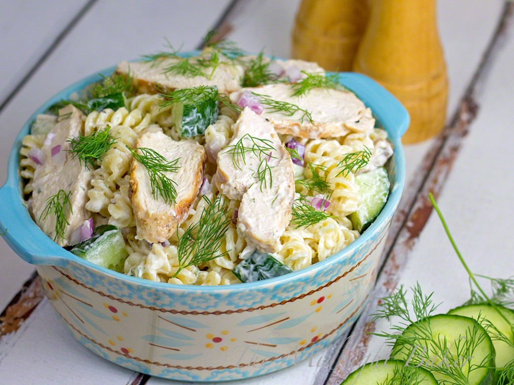 Dilly Ranch Grilled Chicken & Pasta Salad | bakeatmidnite.com | #PastaSalad #ChickenSalad #DillDressing