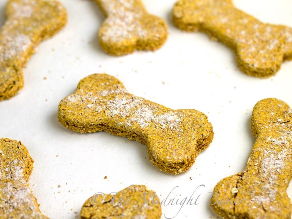 Pumpkin Oat Dog Biscuits The Midnight Baker