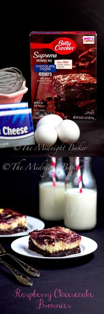Betty Crocker Supreme Brownie Mix Raspberry Swirl Cheesecake Brownies #PriceChopperBBQ #shop