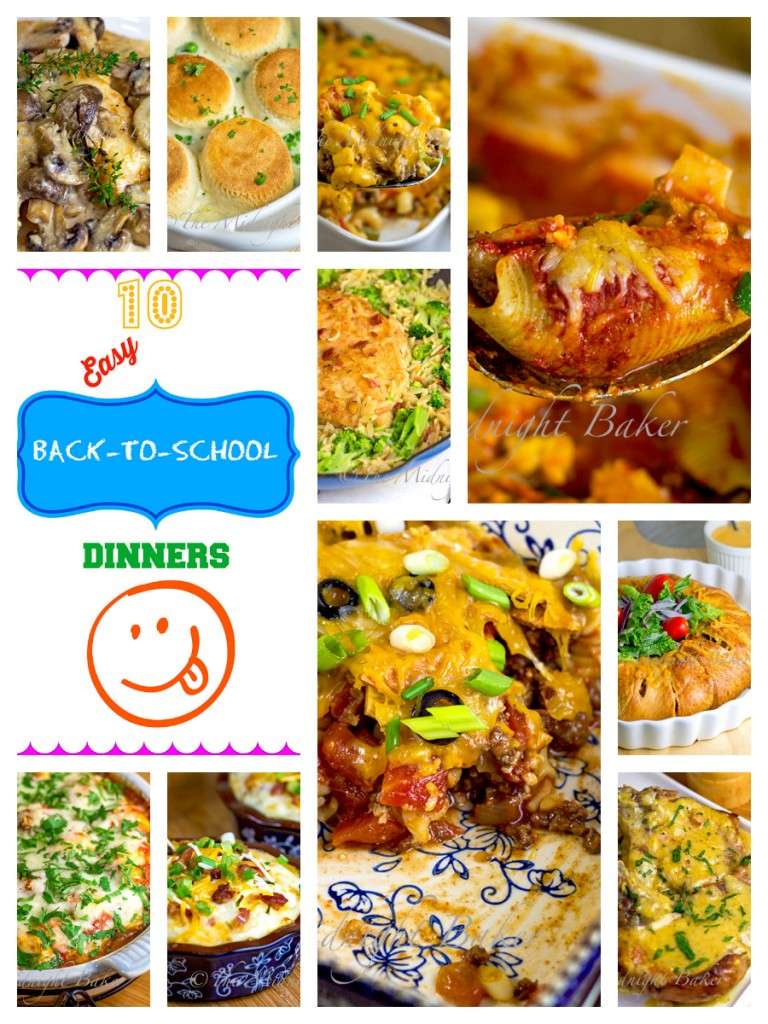 10 Easy Back-To-School Dinners | bakeatmidnite.com | #back-to-school #easydinners