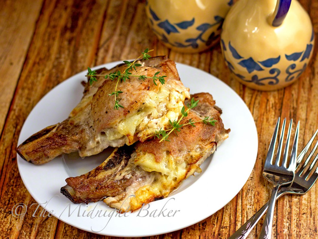 Cheese Potato Stuffed Pork Chops Bakeatmidnite Porkchops Slowcooker
