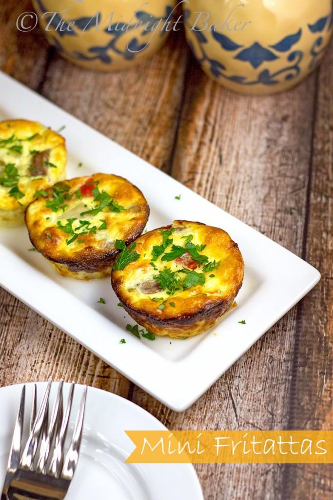 Mini Fritattas | bakeatmidnite.com | #quiche #fritatta #breakfast