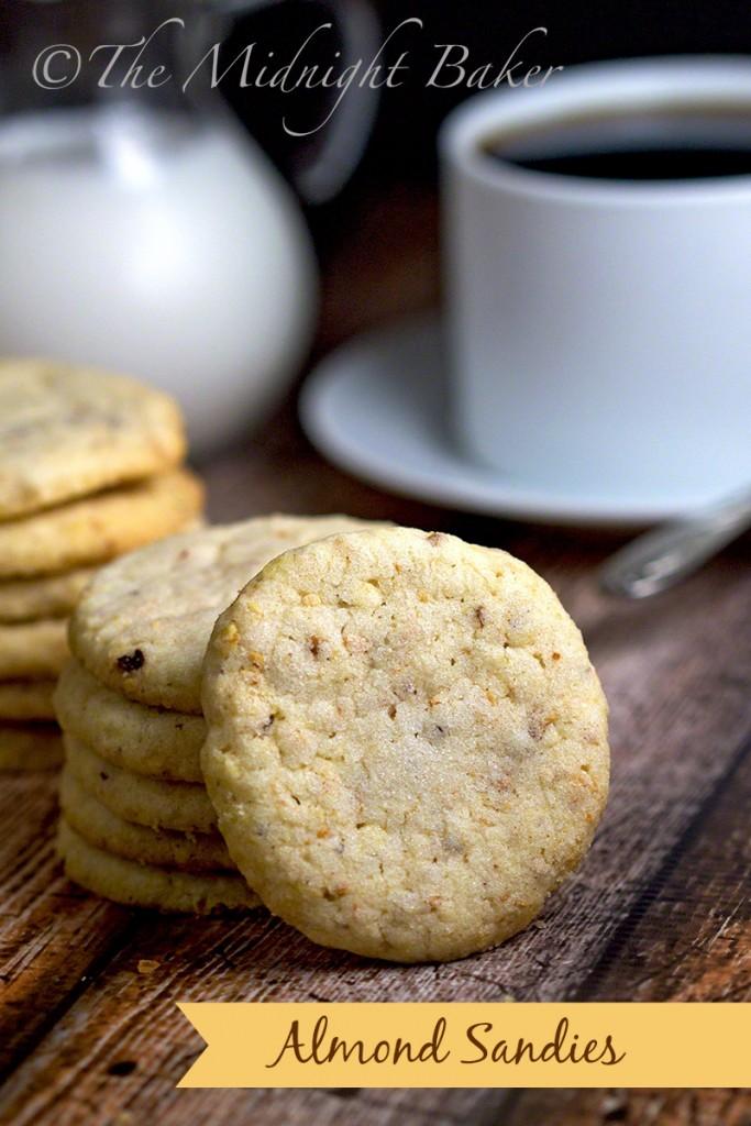 Almond Sandies | bakeatmidnite.com | #almondcookies #shortbread #potatochipcookies