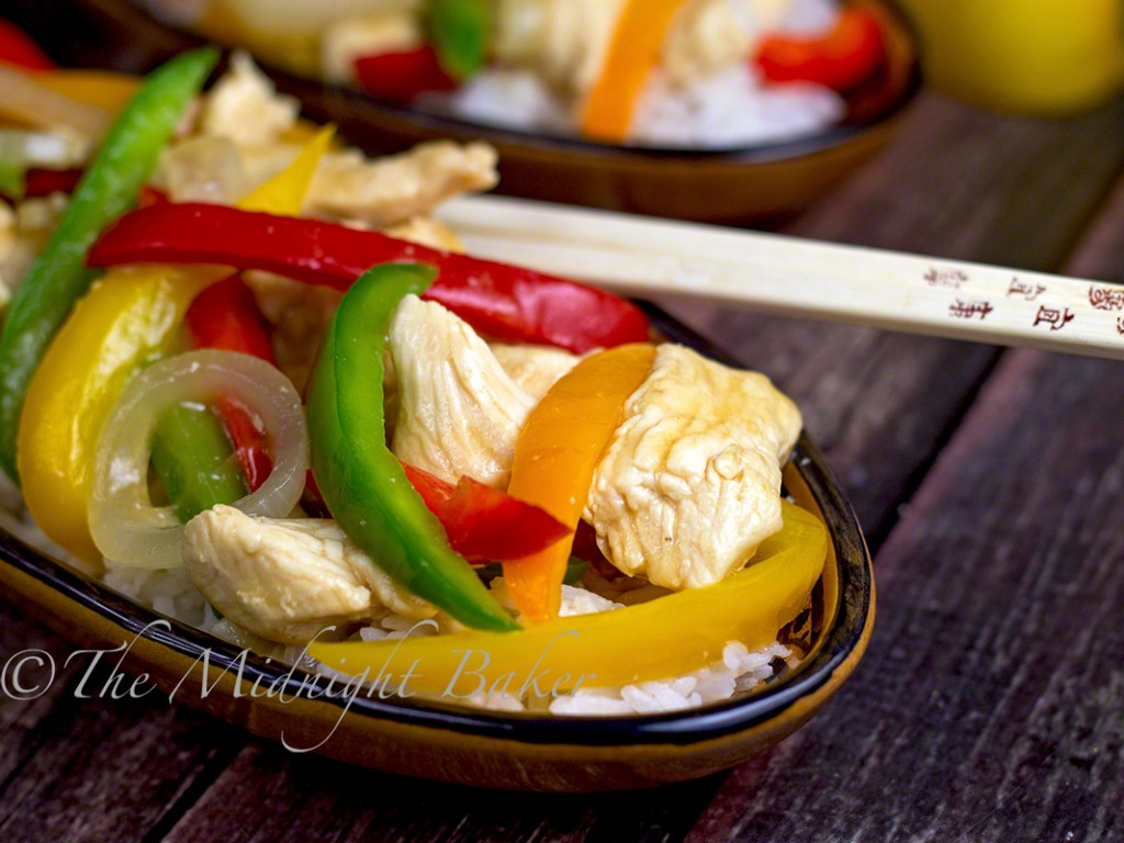 Quicky Chicken & Peppers Stir Fry | bakeatmidnite.com | #quickmeals #stirfry #chicken