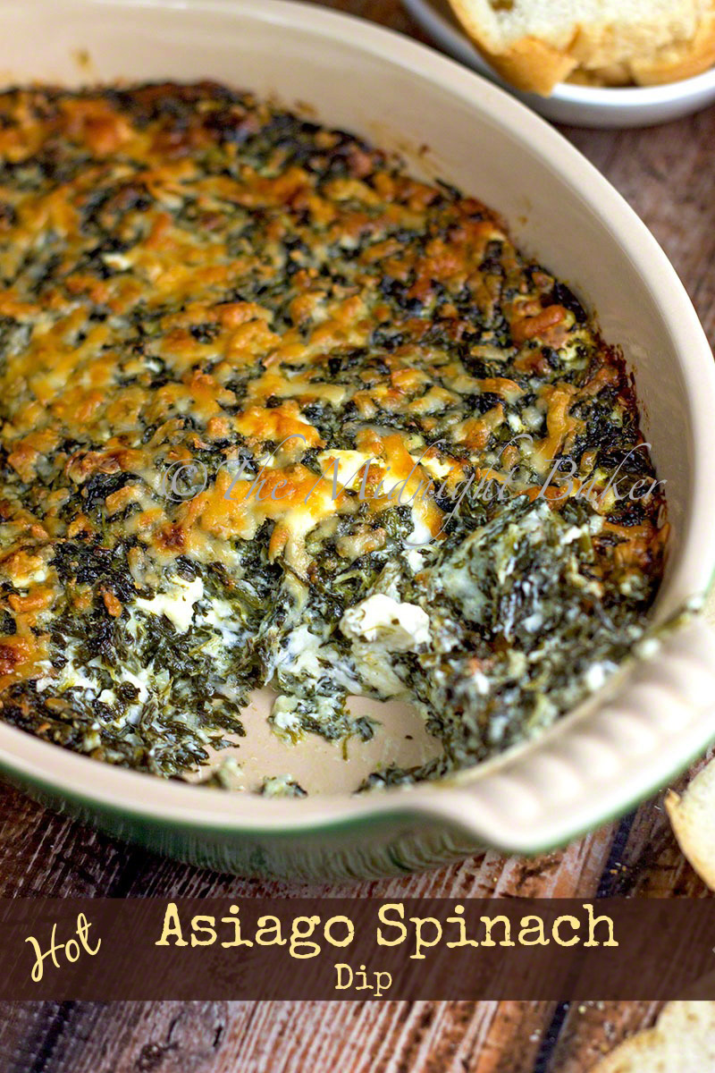 Hot Asiago Spinach Dip - The Midnight Baker