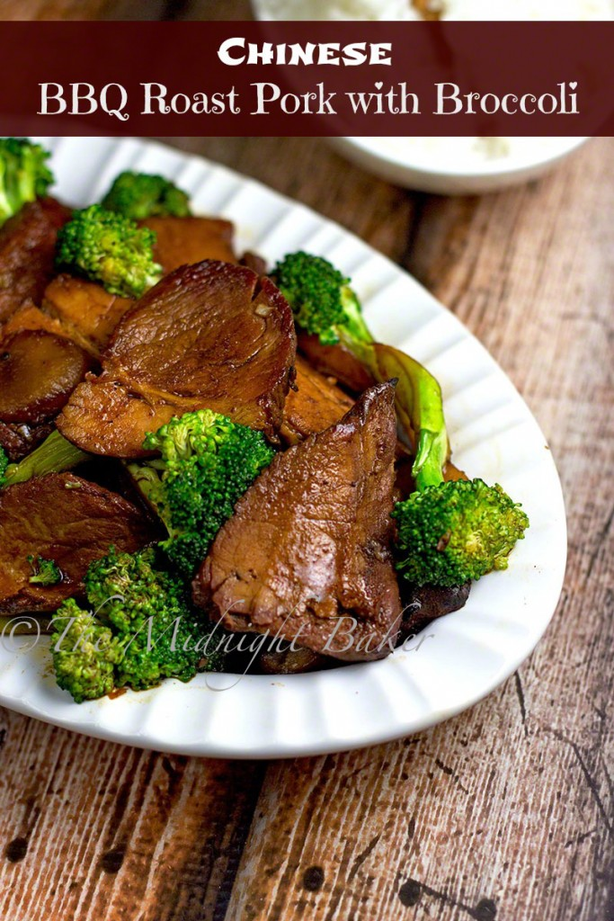 Chinese BBQ Pork with Broccoli | bakeatmidnite.com | #chinesebbqpork #chinesetakeout #porkandbroccoli