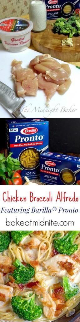 Barilla® Pronto Chicken Broccoli Alfredo | bakeatmidnite.com | #OnePotPasta #PMedia #ad #chicken