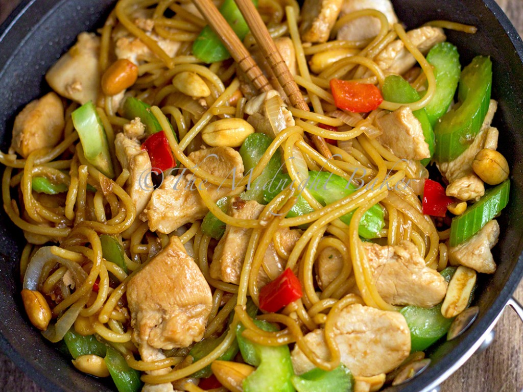 Subgum Chicken Lo Mein - The Midnight Baker