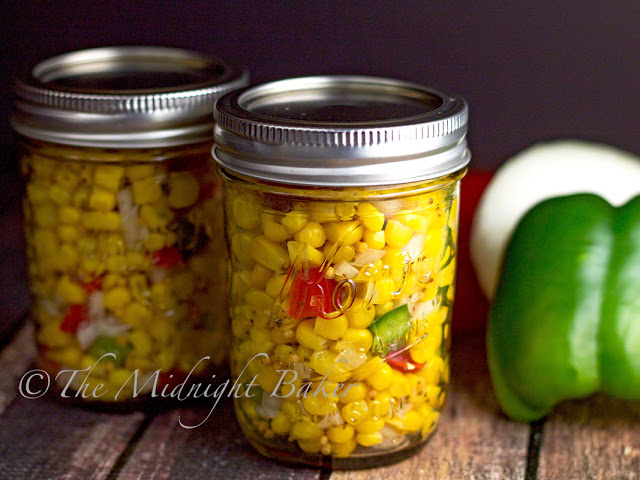 Corn Relish | bakeatmidnite.com | #corn #relish #recipe #summer