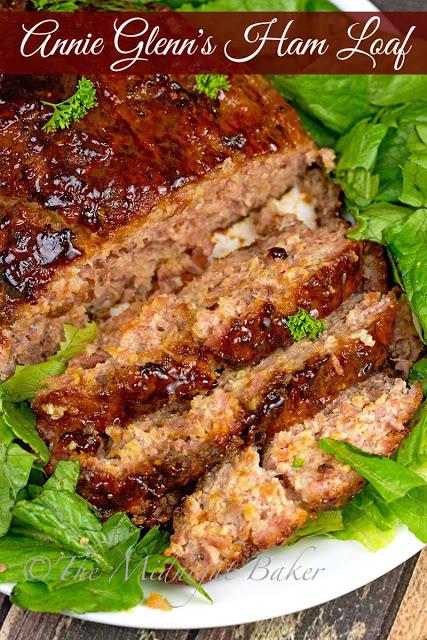 Annie Glenn's Ham Loaf | bakeatmidnite.com | #meatloaf #ham #astronautwivesclub
