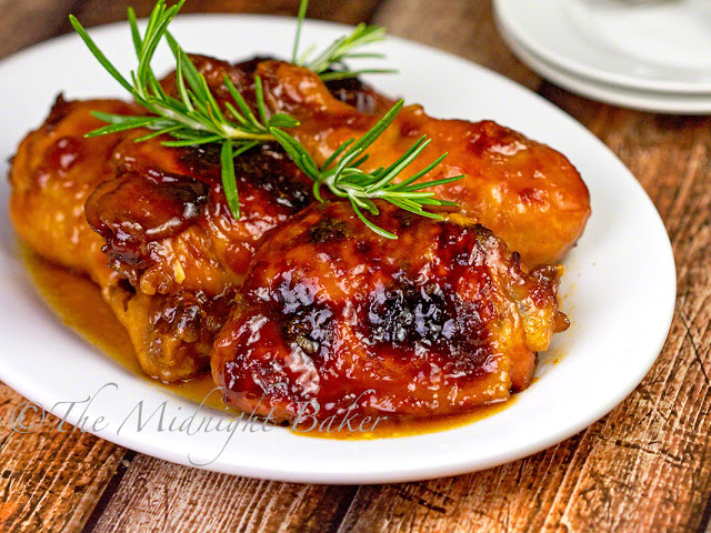 Apricot Chicken | bakeatmidnite.com | #chicken #apricots #recipe