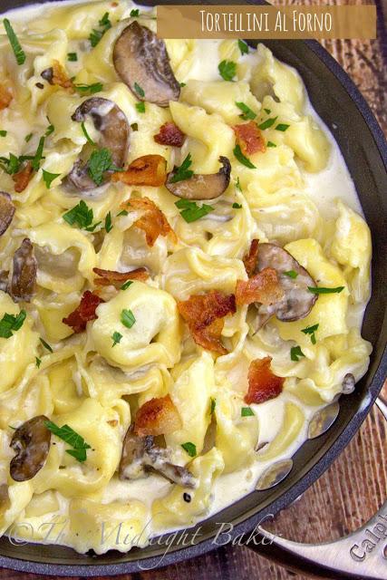 Tortellini Al Forno | bakeatmidnite.com | #pasta #tortellini #asiago