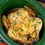 Crock Pot Herbed Rotisserie Chicken
