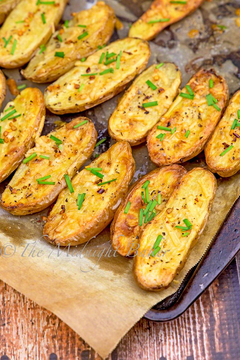 Garlic Asiago Fingerling Potatoes