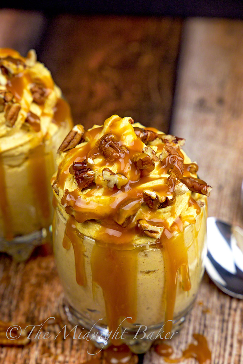 Pumpkin Turtle Cheesecake Parfait