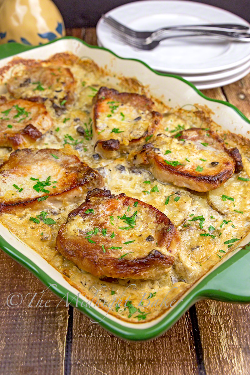 Pork Chops & Scalloped Potato Casserole