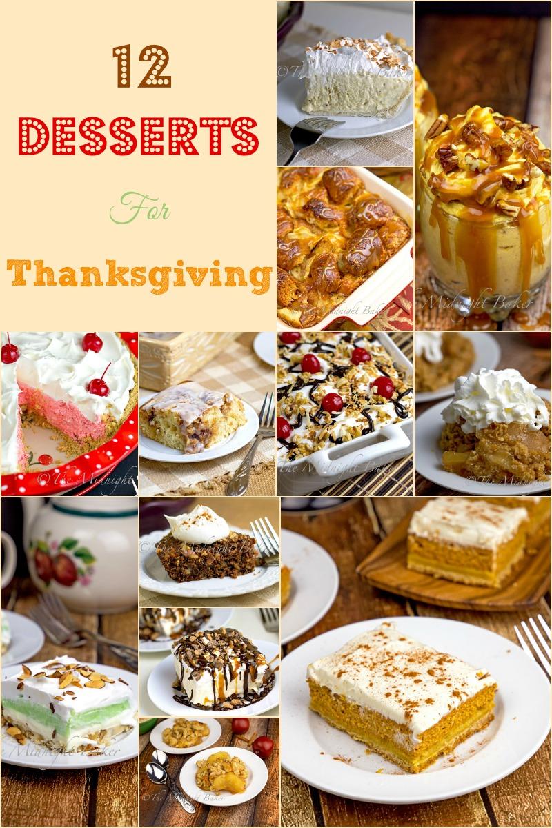 12 Thanksgiving Desserts