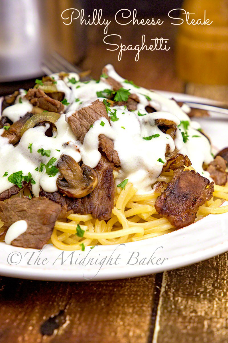 Cheese Steak Spaghetti