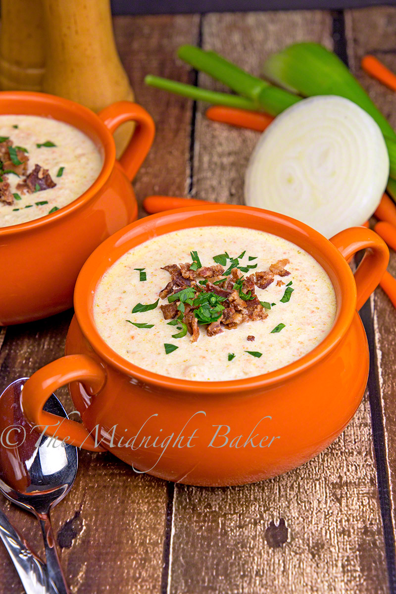 Cream of Celery Soup with Bacon