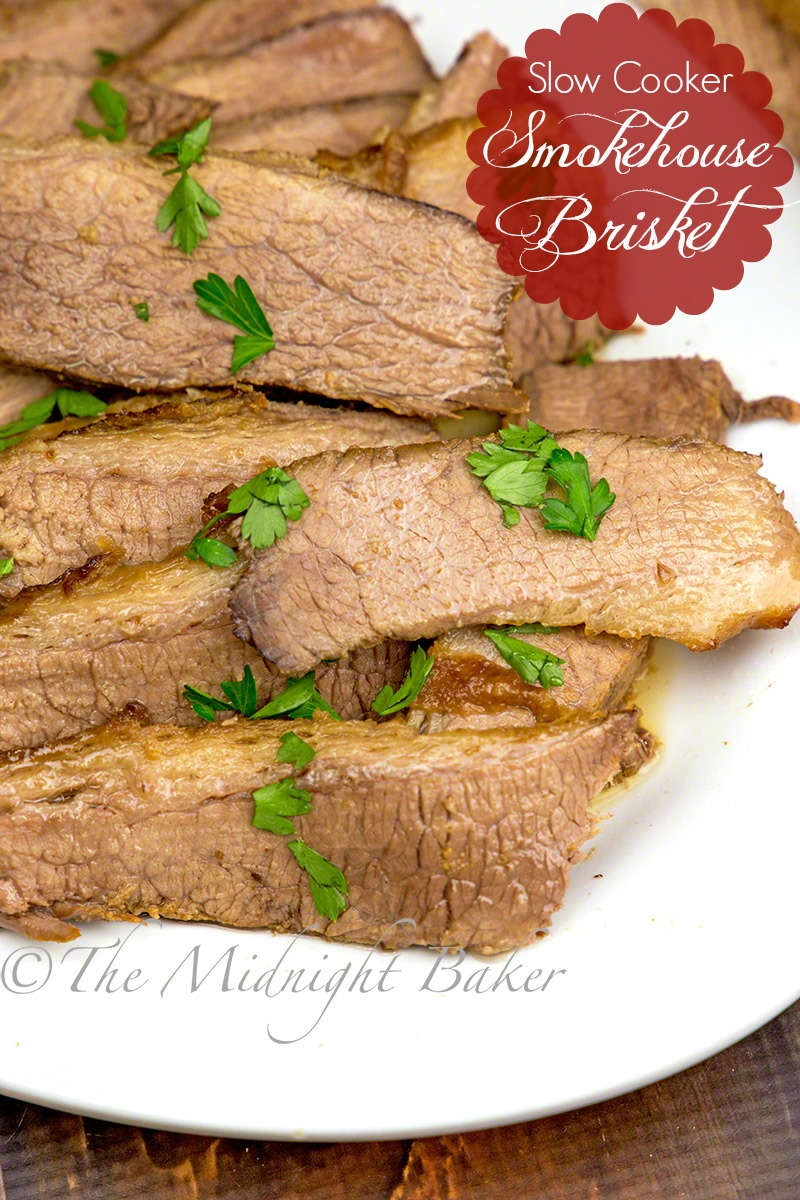Slow Cooker Smoked Brisket