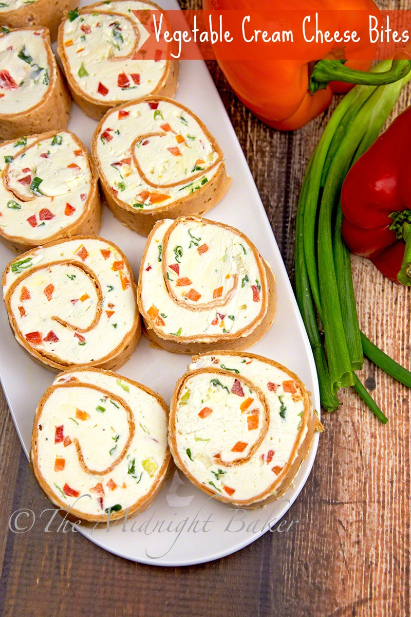 Vegetable Cream Cheese Bites