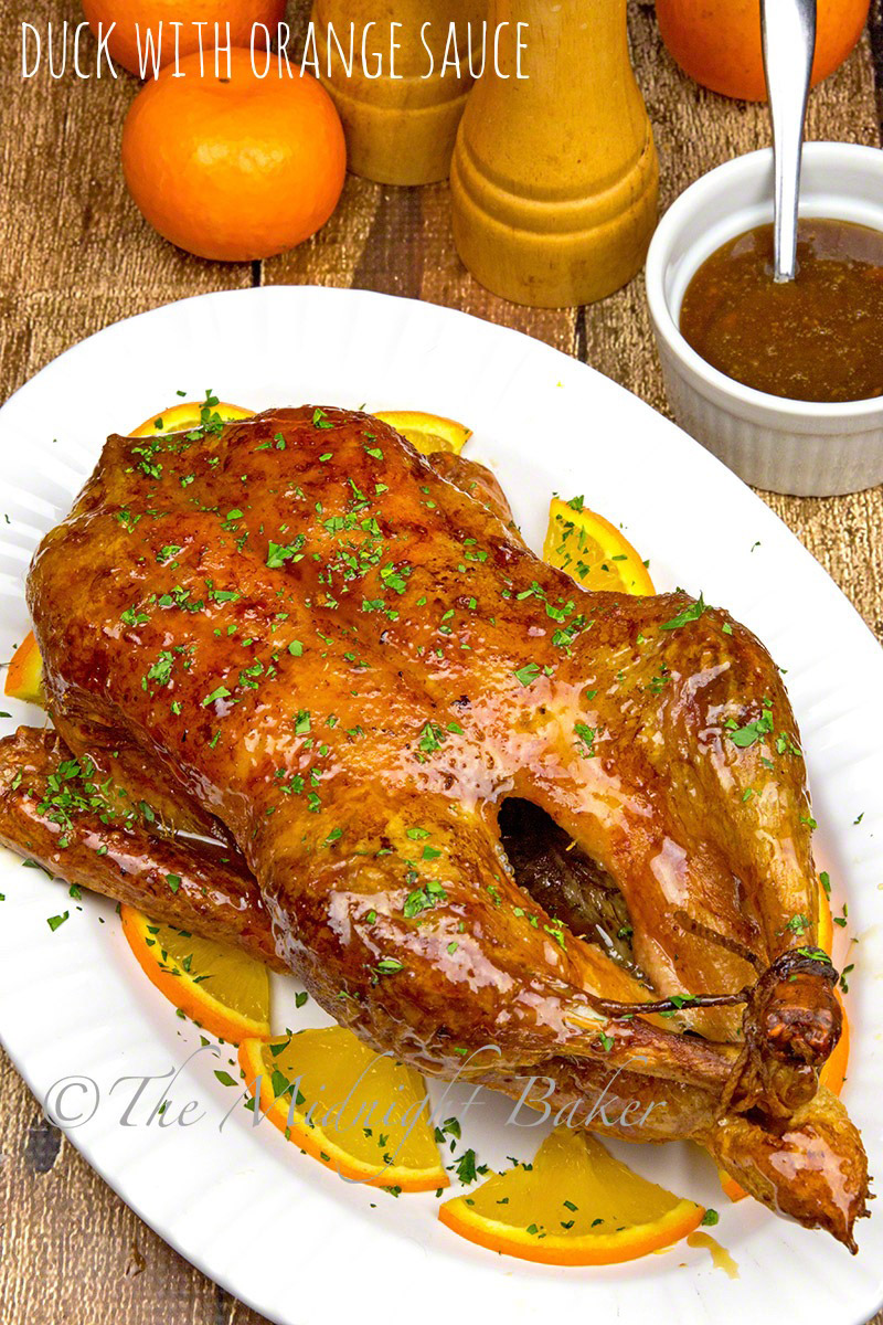The most favored way to serve roast duck